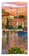 Harbour Sunset Beach Towel
