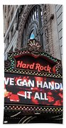 Hard Rock Cafe New York Beach Towel