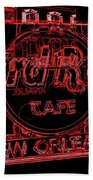 Hard Rock Cafe Nola Beach Towel