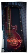 Hard Rock Guitar Nyc Beach Towel