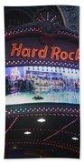 Hard Rock Marquee Nyc Beach Towel