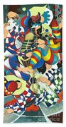Harlequins Acting Weird - Why?... Beach Towel