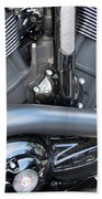 Harley Close-up Engine Close-up 1 Beach Towel