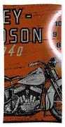 Harley Davidson 1940s Sign Beach Towel