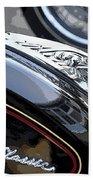 Harley Davidson Motorcycle American Eagle Fender Ornament Usa Beach Towel