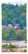 Harpers Ferry View Beach Towel