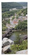 Harpers Ferry Viewed From Maryland Heights Beach Towel