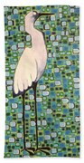 Harried Heron Beach Towel