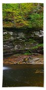 Harrison Wright Falls And Pool Beach Towel