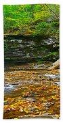 Harrison Wright Falls Panorama Beach Towel
