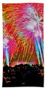 Hart Plaza Fireworks Beach Towel