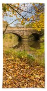 Hartford Bridge In Autumn Beach Towel