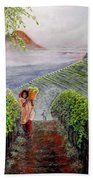Harvest At Dawn Beach Towel
