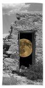 Harvest Moon Through The Magic Door Beach Towel