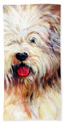 Harvey The Sheepdog Beach Towel