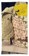 Hatbox Of Lace Beach Towel