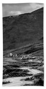 Hatcher's Pass In Black And White Beach Towel