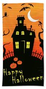 Haunted House Part One Beach Towel by Linda Mears