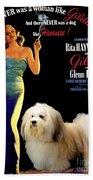 Havanese Art - Gilda Movie Poster Beach Towel