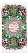 Have Yourself A Faery Little Christmas Beach Towel