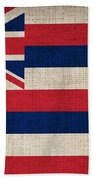 Hawaii State Flag  Beach Towel