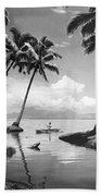 Hawaii Tropical Scene Beach Towel by Underwood Archives
