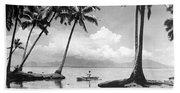 Hawaii Tropical Scene Beach Towel