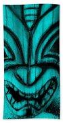 Hawaiian Aquamarine Mask Beach Towel