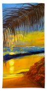 Hawaiian Coastal Sunset Beach Towel
