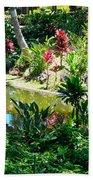 Hawaiian Cultural Garden Honolulu Airport Beach Towel