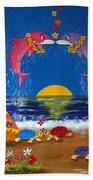 Hawaiian Island Love Beach Towel