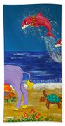 Hawaiian Lei Parade Beach Towel