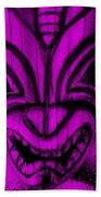Hawaiian Purple Mask Beach Towel