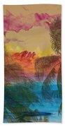 Hawaiian Sunset Beach Towel