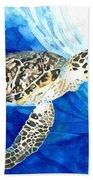 Hawksbill Sea Turtle 2 Beach Towel