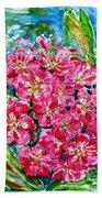 Hawthorn Blossom Beach Towel