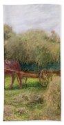 Haymaking Beach Towel by Arthur Hopkins