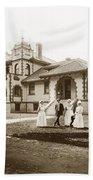Hazel Hawkins Hospital Monterey Street Hollister California Circa 1907 Beach Towel