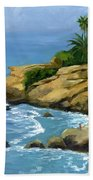 Hazy Laguna Morning Beach Towel