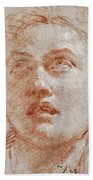 Head Of A Man Looking Up Beach Towel
