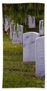 Headstones Of Arlington Cemetery Beach Towel