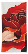 Healing Painting Baby Sleeping In A Rose Beach Towel
