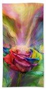 Healing Rose Beach Towel by Carol Cavalaris