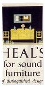 Heals Sound Furniture Advertisement Beach Towel