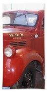 Hearst Fire Truck Beach Towel