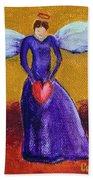 Heart Angel Beach Towel