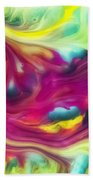 Heart Attack Watercolor Abstraction Painting Beach Towel