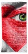 Heart Face Beach Towel