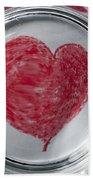 Heart In Mug Abstract 1 B Beach Sheet