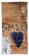 Heart In Sandstone Mountain Beach Towel